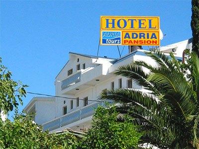 hotel adria, šušanj, grna gora